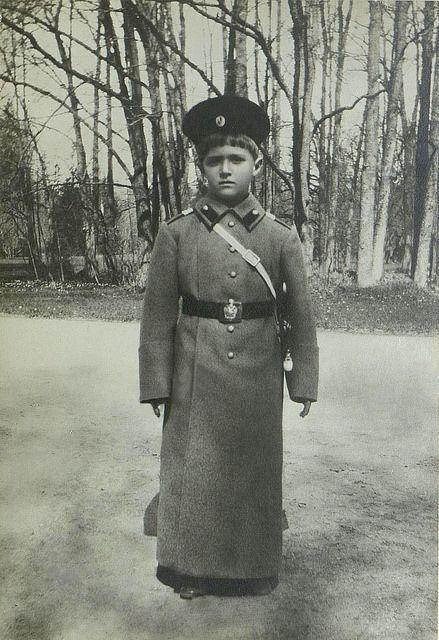 Emperor Nicholas II and tsesarevich Alexis Russian Romanov Royalty Postcard