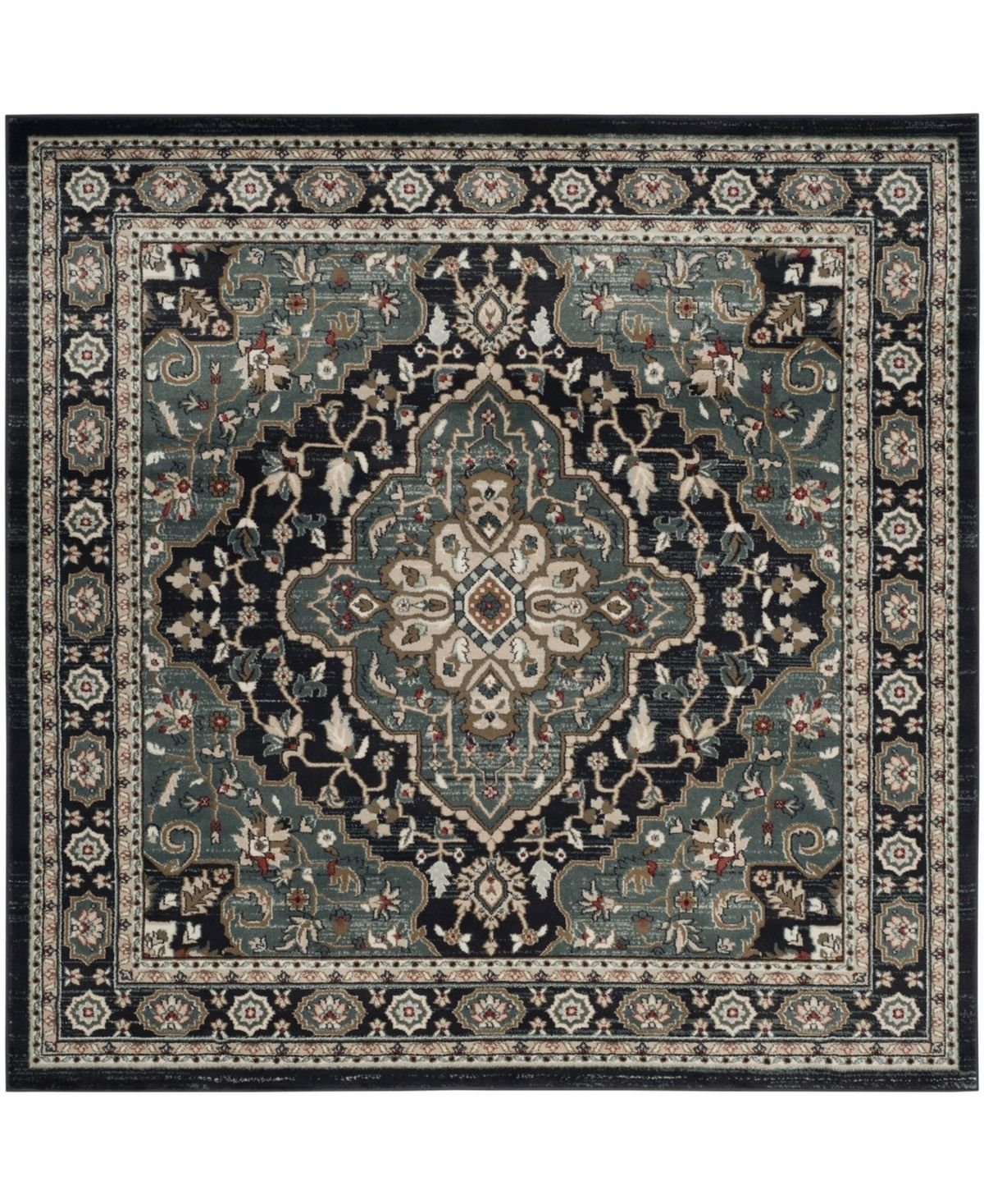 Safavieh Bristol Blue And Ivory 7 X 7 Square Area Rug Reviews