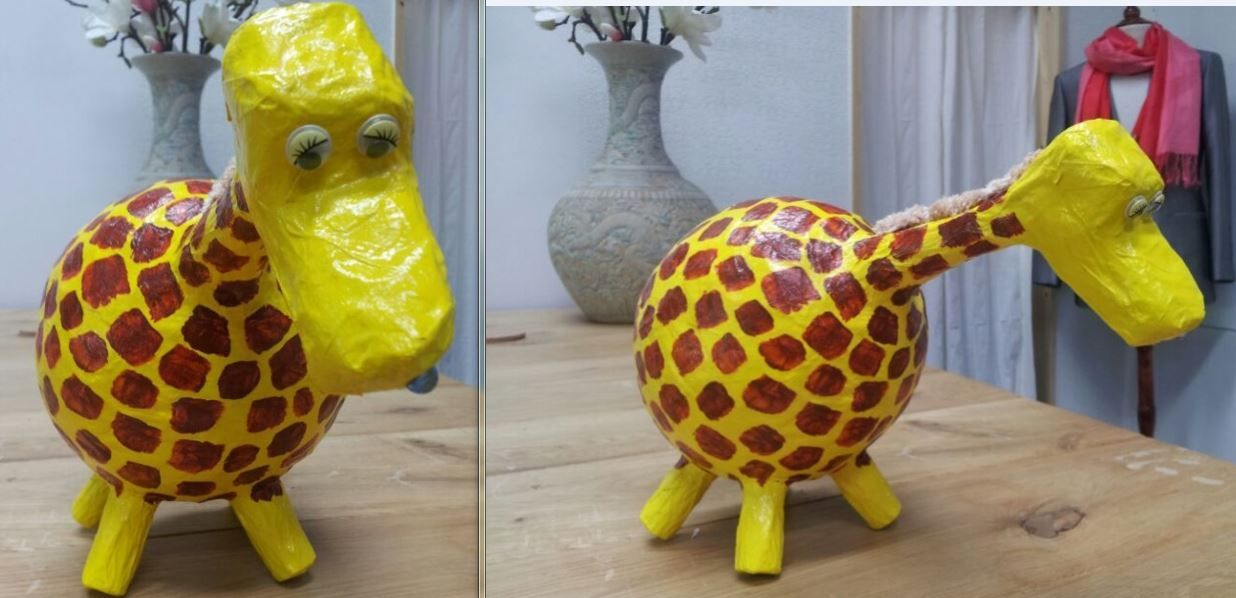 Deze geweldige giraf is de verpakking voor de donatie van Amerpoort. Wat een superverpakking! Dank jullie wel!