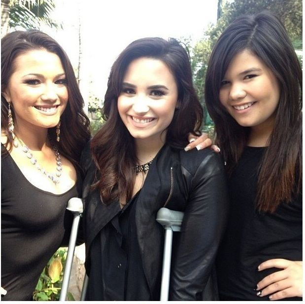 Madison Delagarza And Demi Lovato 2015