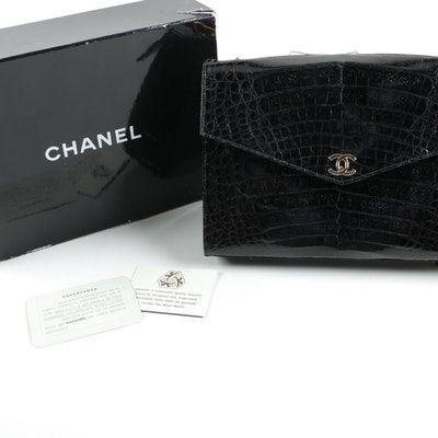 0d4ed333dbee 1986-1988 Vintage Chanel Crocodile Skin Handbag   S T Y L E ...