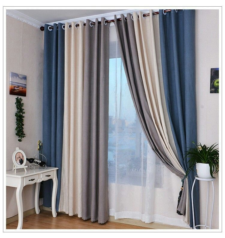 3 Color Panel Luxurycurtains Curtains Living Room Home Curtains Blue Curtains Living