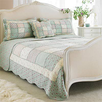 Paoletti Avignon Quilted Bedspread, Duck Egg, Super King | Home ... : super king quilted bedspreads - Adamdwight.com