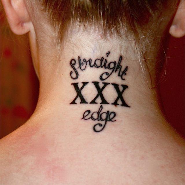 Straight Edge Tattoos: Straight Edge Tattoo