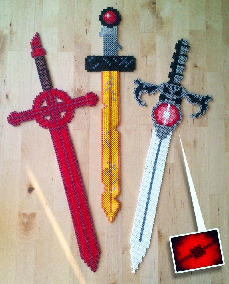 perler bead adventure time sword - Google Search