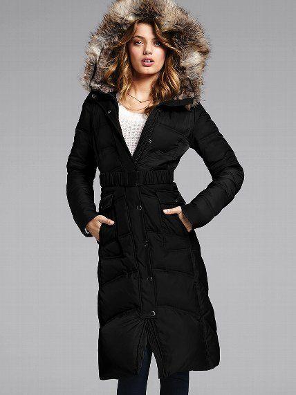 Piekna Puchowa Kurtka Victoria S Secret Xs 4747692181 Oficjalne Archiwum Allegro Long Puffer Coat Puffer Coat Clothes