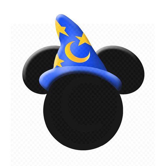 Instant Download - Sorcerer Mickey Mouse Head Silhouette ...