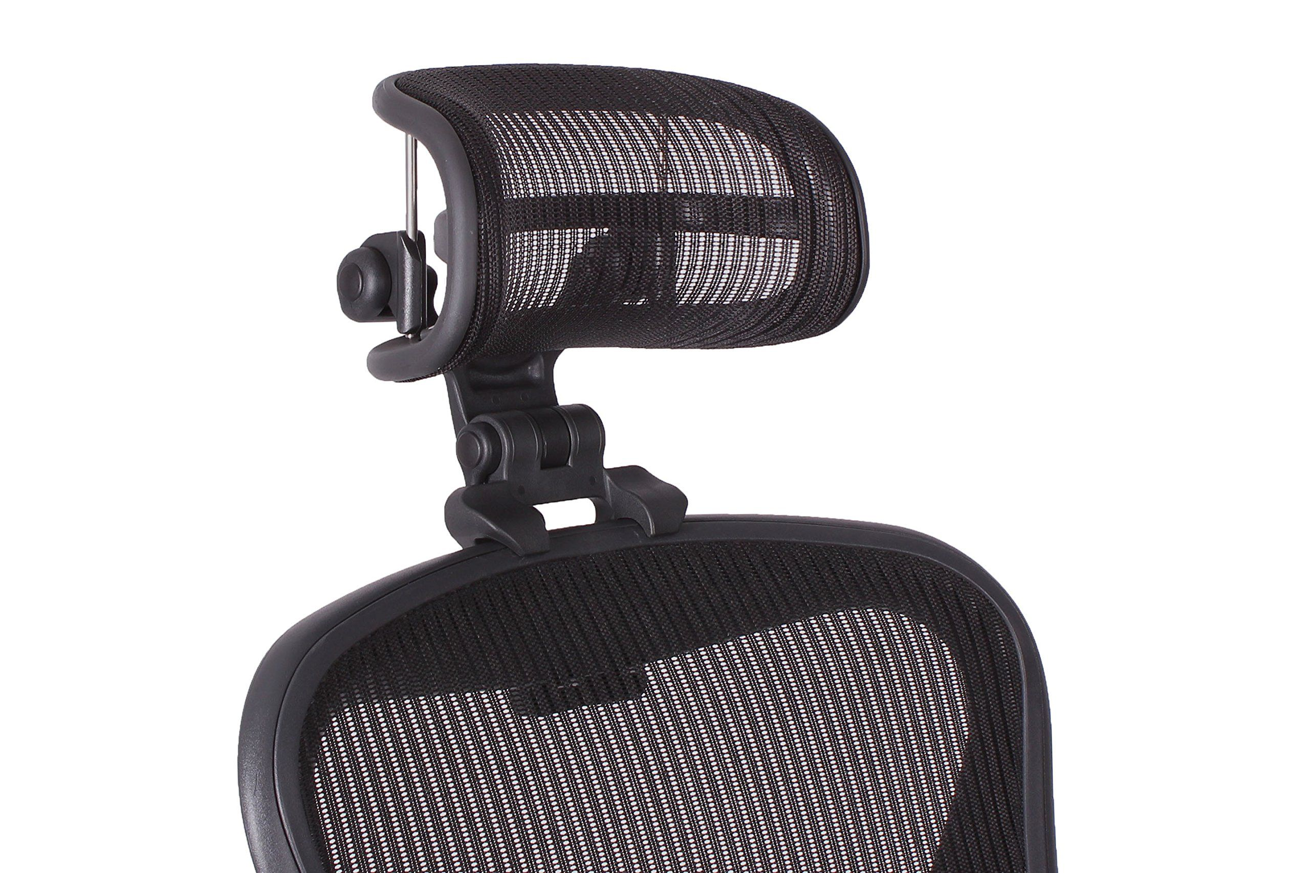 The Original Headrest For The Herman Miller Aeron Chair H3 Carbon Colors And Mesh Match Classic Aeron Chair 2 In 2020 Headrest Herman Miller Aeron Chair Body Posture