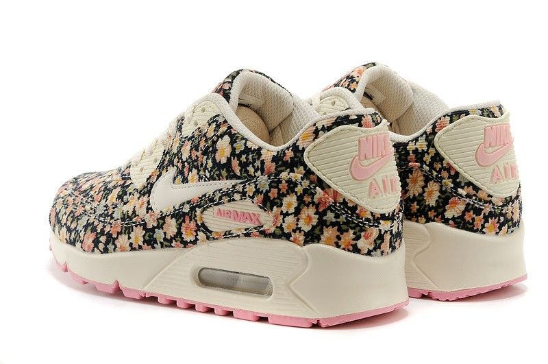 Shop Mens Nike Air Max 90 Floral Print Shoes Jasmine Flower Online, Quick  To Seize The Opportunity To Buy Nike Air Max 90 In Discount Prices, ...