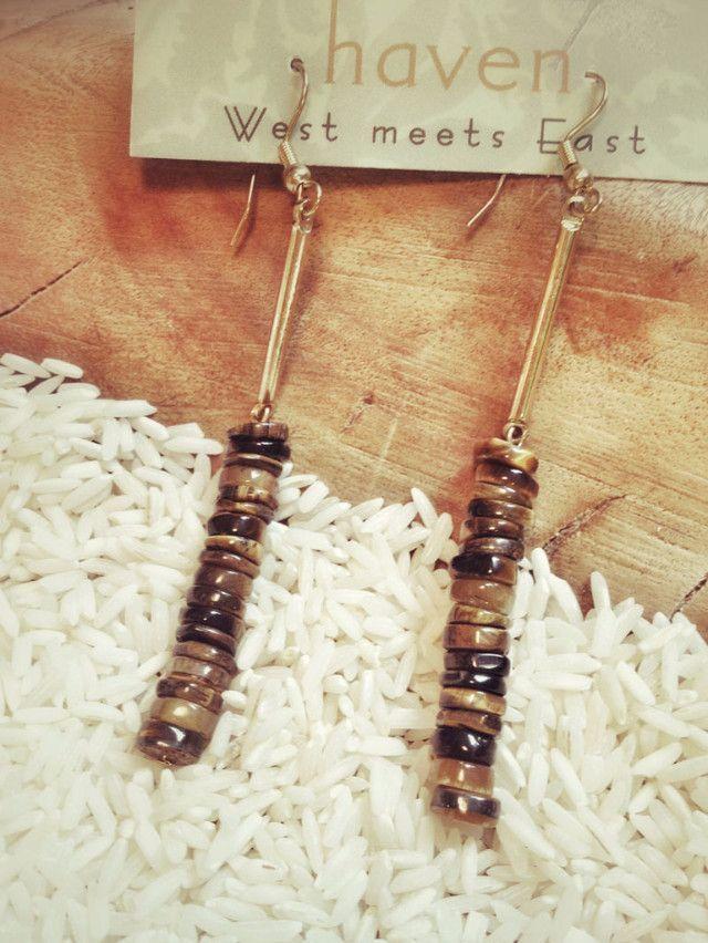 Marrin Costello Vertical Gold Bead Earrings