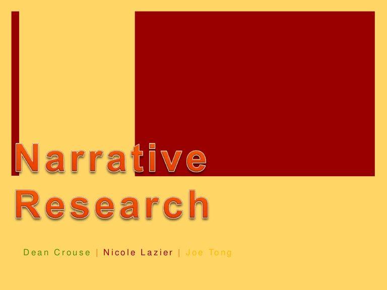 Narrative Research. Slideshare.net