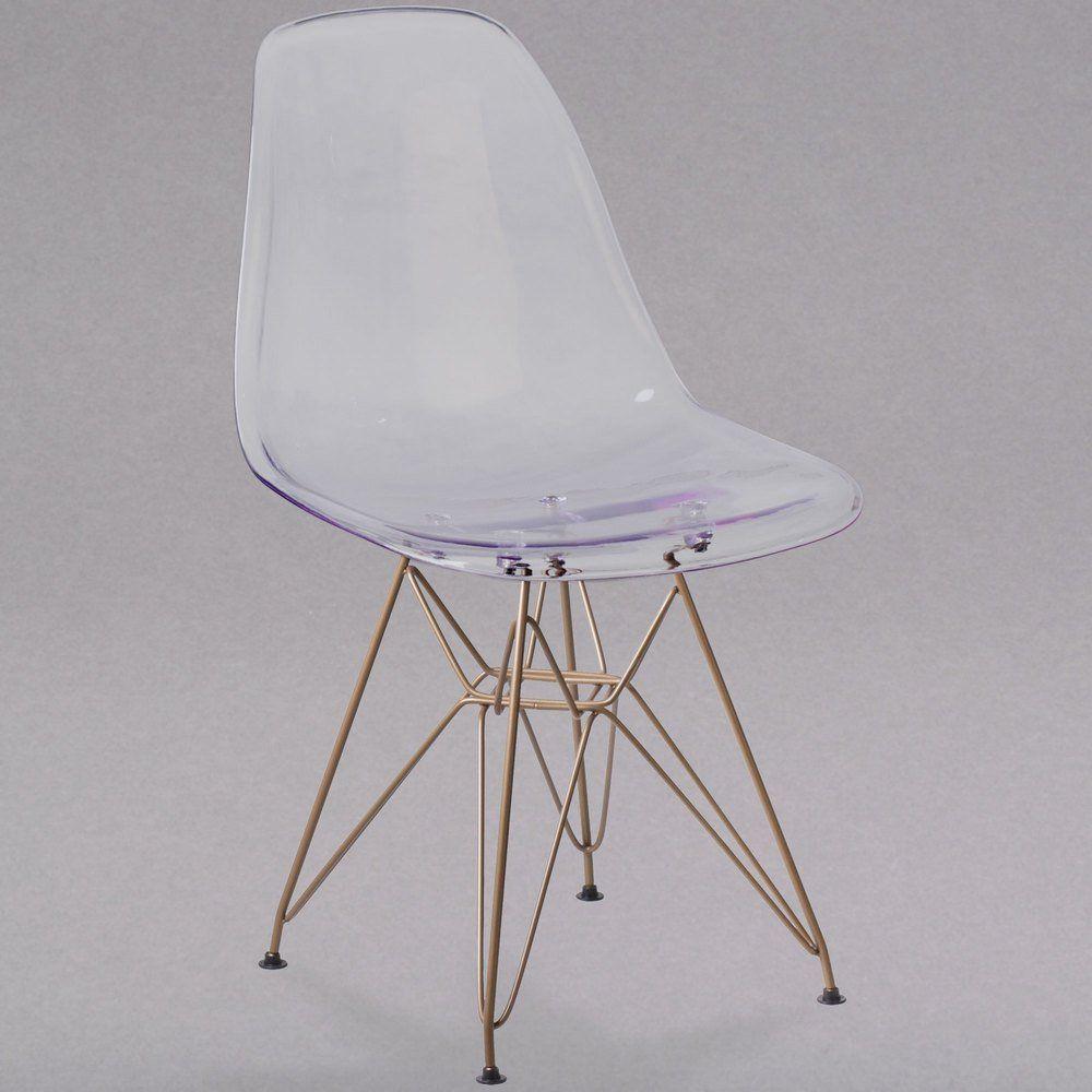 Flash furniture fh130cpc1gg elon series ghost plastic