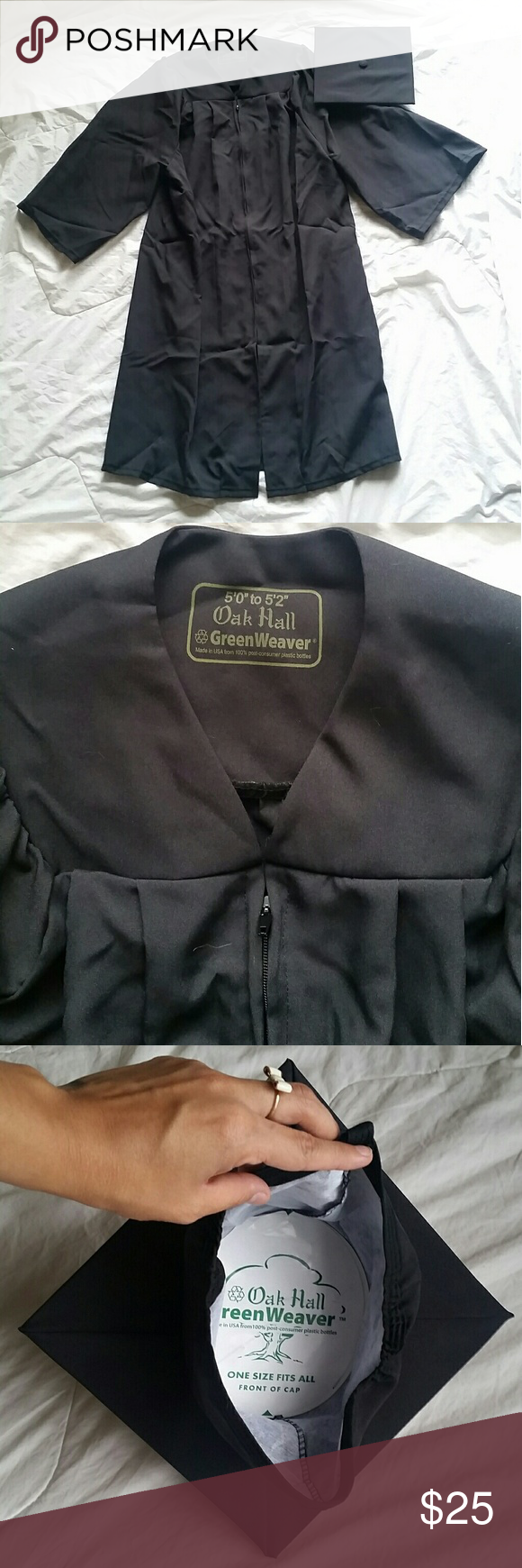 Black Cap and Gown Black Cap and Gown. Worn once. Oak Hall Green ...