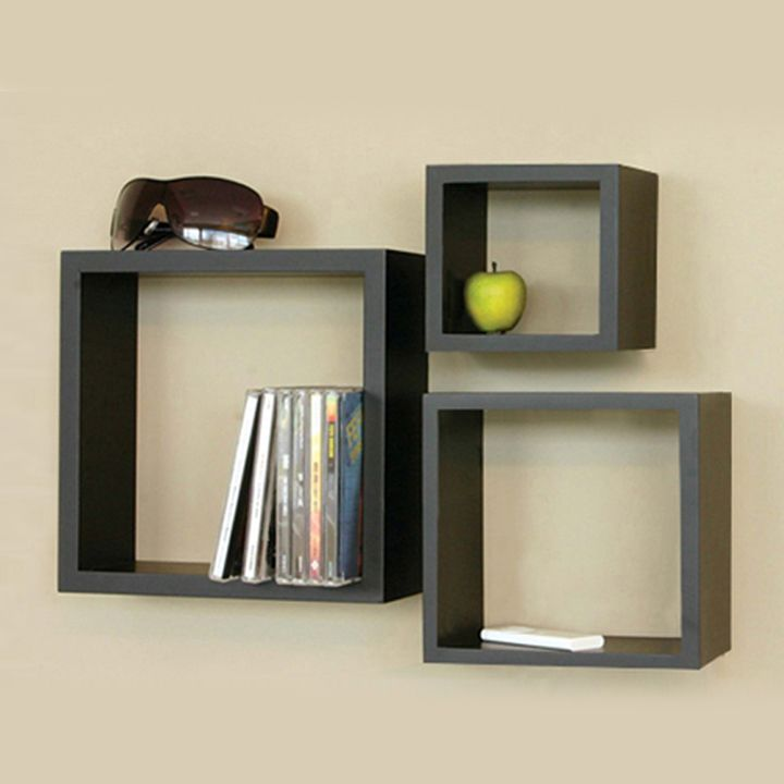 3 Square Wall Shelves Wooden Wall Shelves Wood Wall