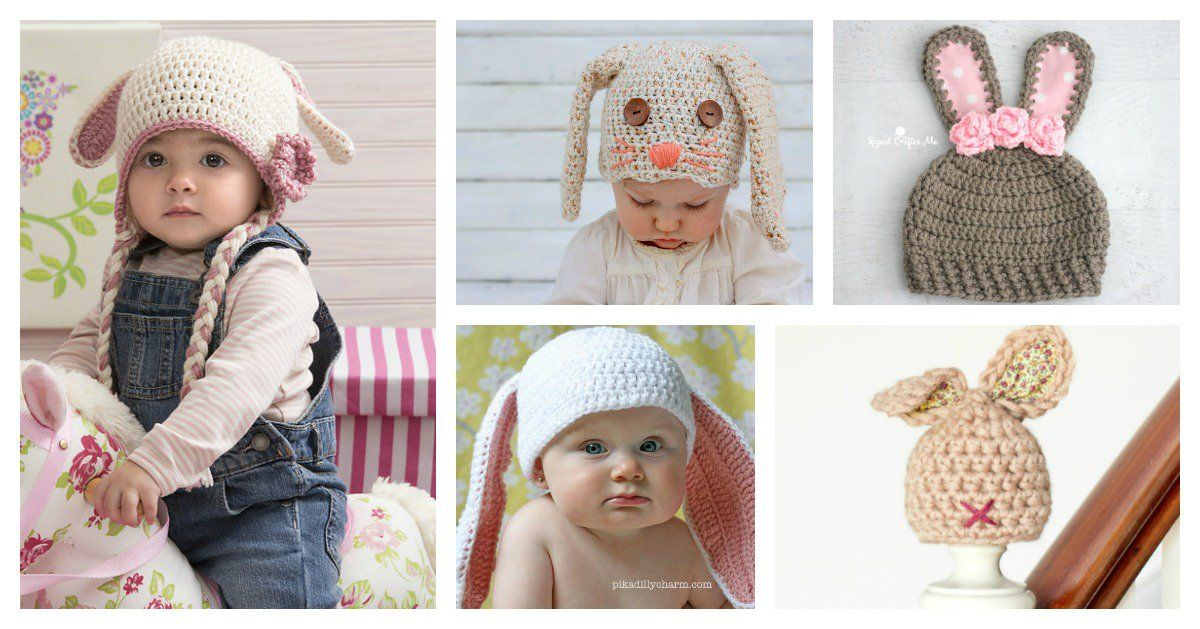 8 Adorable Crochet Bunny Hat Free Patterns for Easter ...