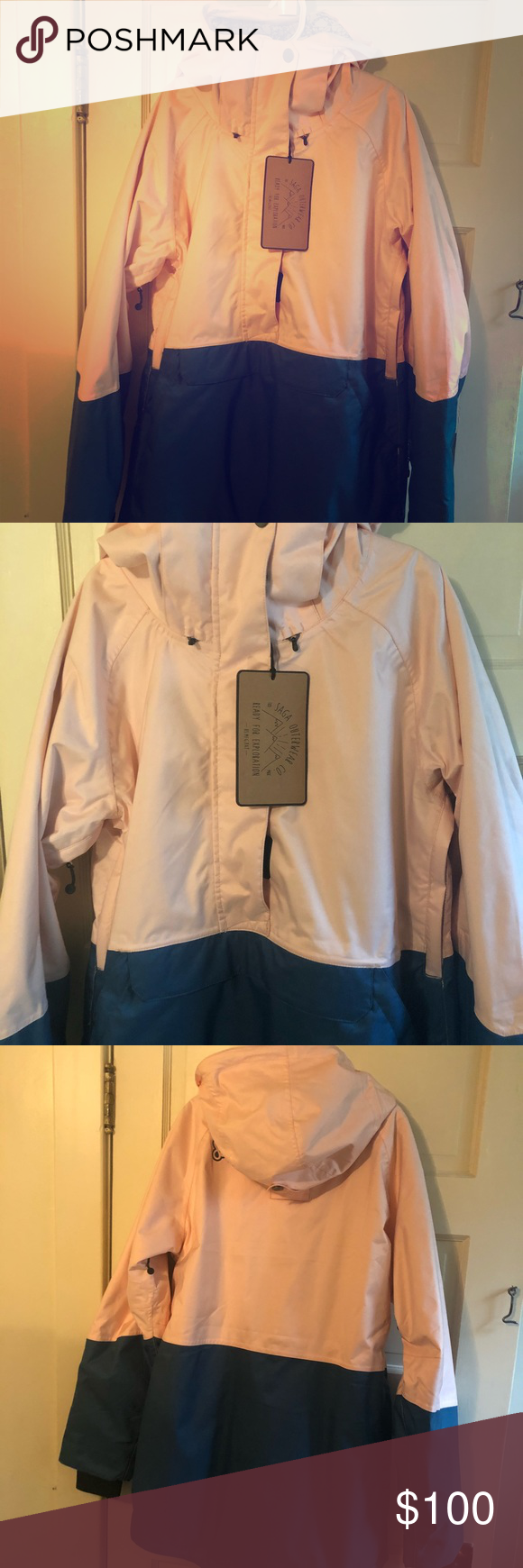 Nwt Saga Rouge Pullover Jacket Snow Outerwear Outerwear Pullover Jacket Saga Outerwear [ 1740 x 580 Pixel ]