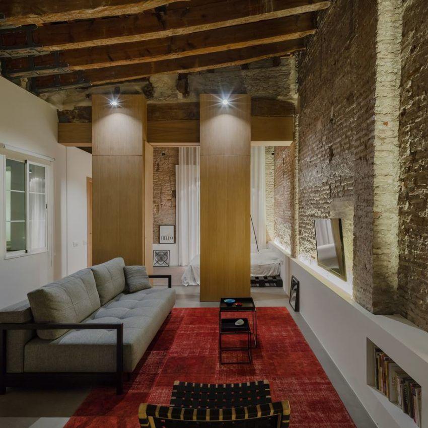 Twentieth Century Apartment with a Modern Interior Old
