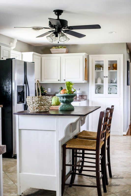 Best Wood To White Kitchen Tutorial No Removing Cabinet Doors 400 x 300