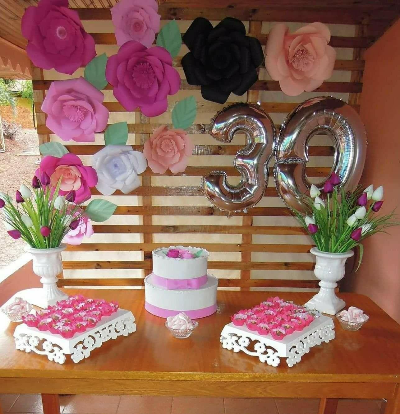 Flores gigantes papel e painel paletes, para meu aniversário ...