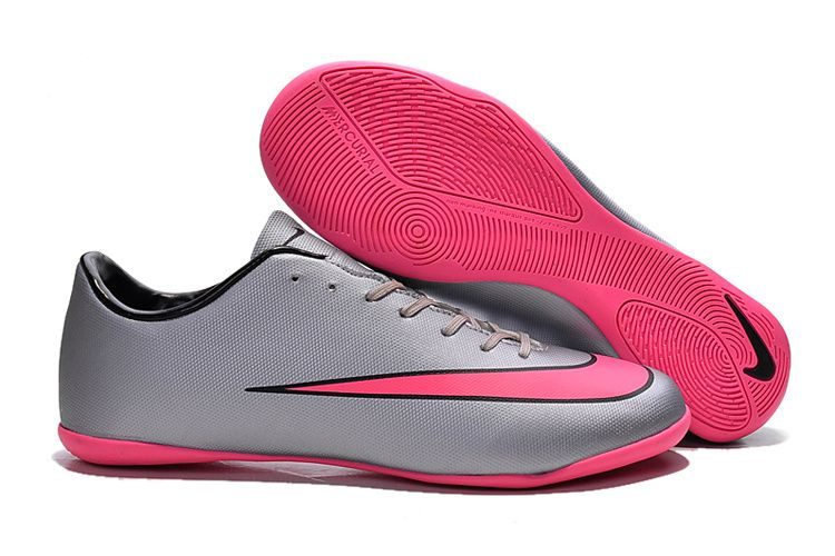 purchase cheap e0e2b 7ace2 2015 Nike Mercurial Victory V Indoor Football Shoes silver pink
