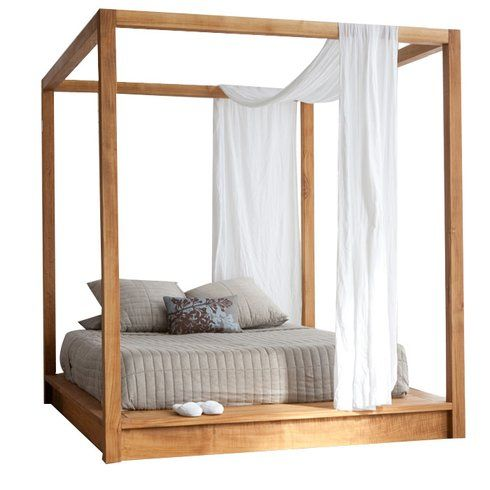 George Oliver Middlebrook Canopy Bed Modern Canopy Bed Canopy