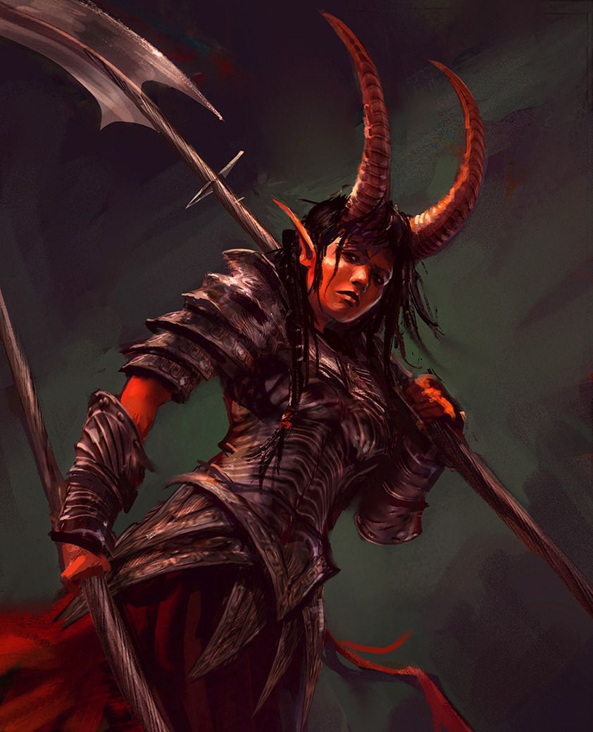 Tiefling Woman Paladin - Google Search In 2019