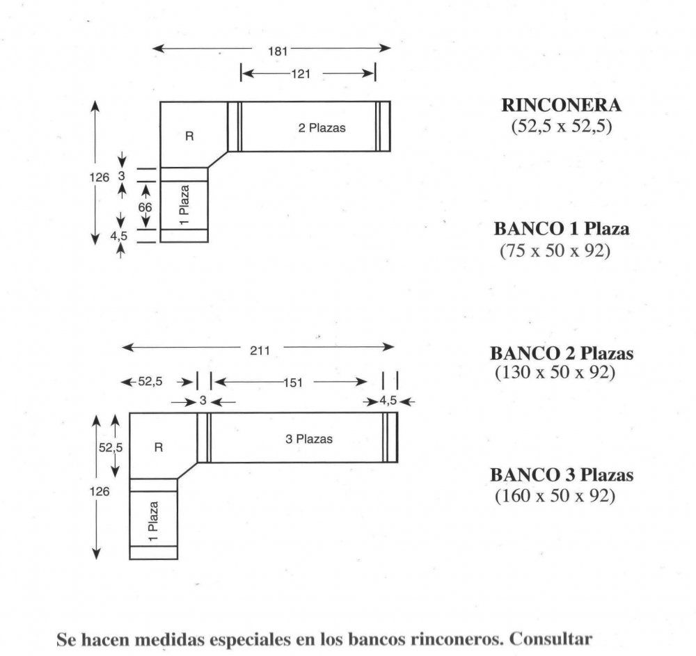 Medidas de cocina con rinconero buscar con google - Banco de cocina rinconero ...