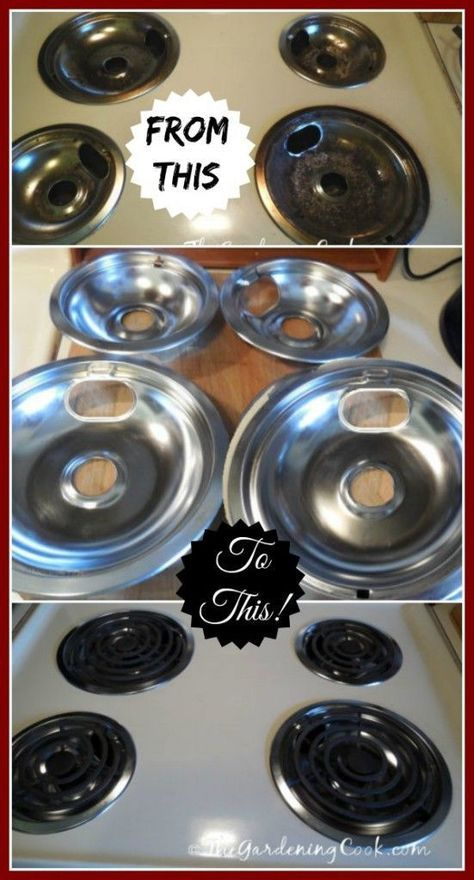 Cleaning Stove Burner Drip Pans