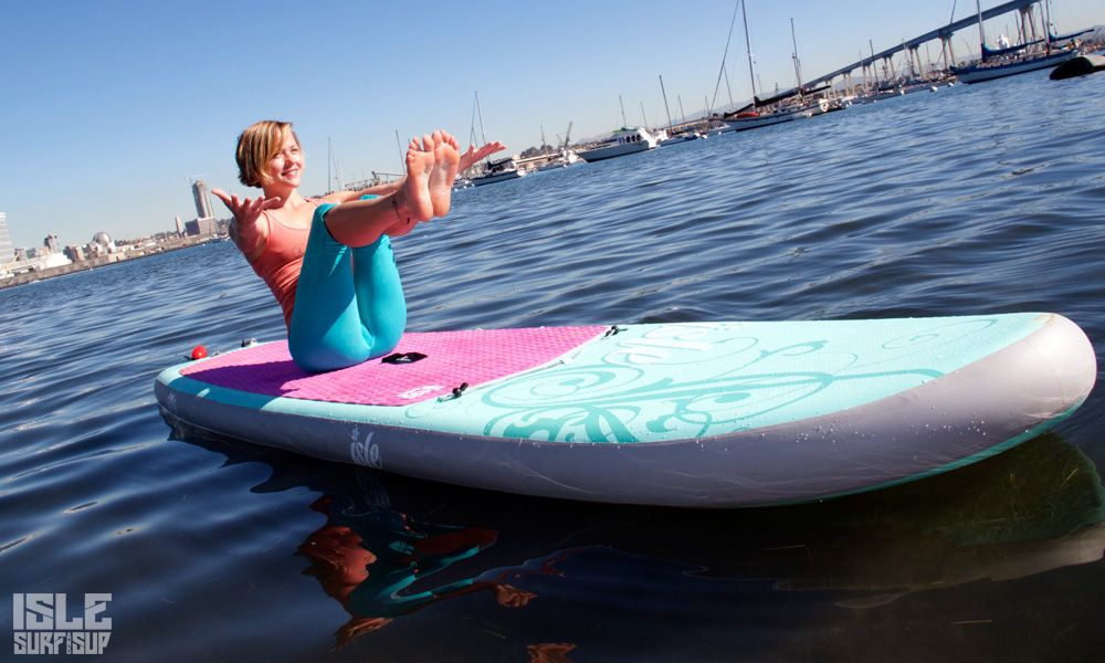 Paddle Surf Yoga pose del barco