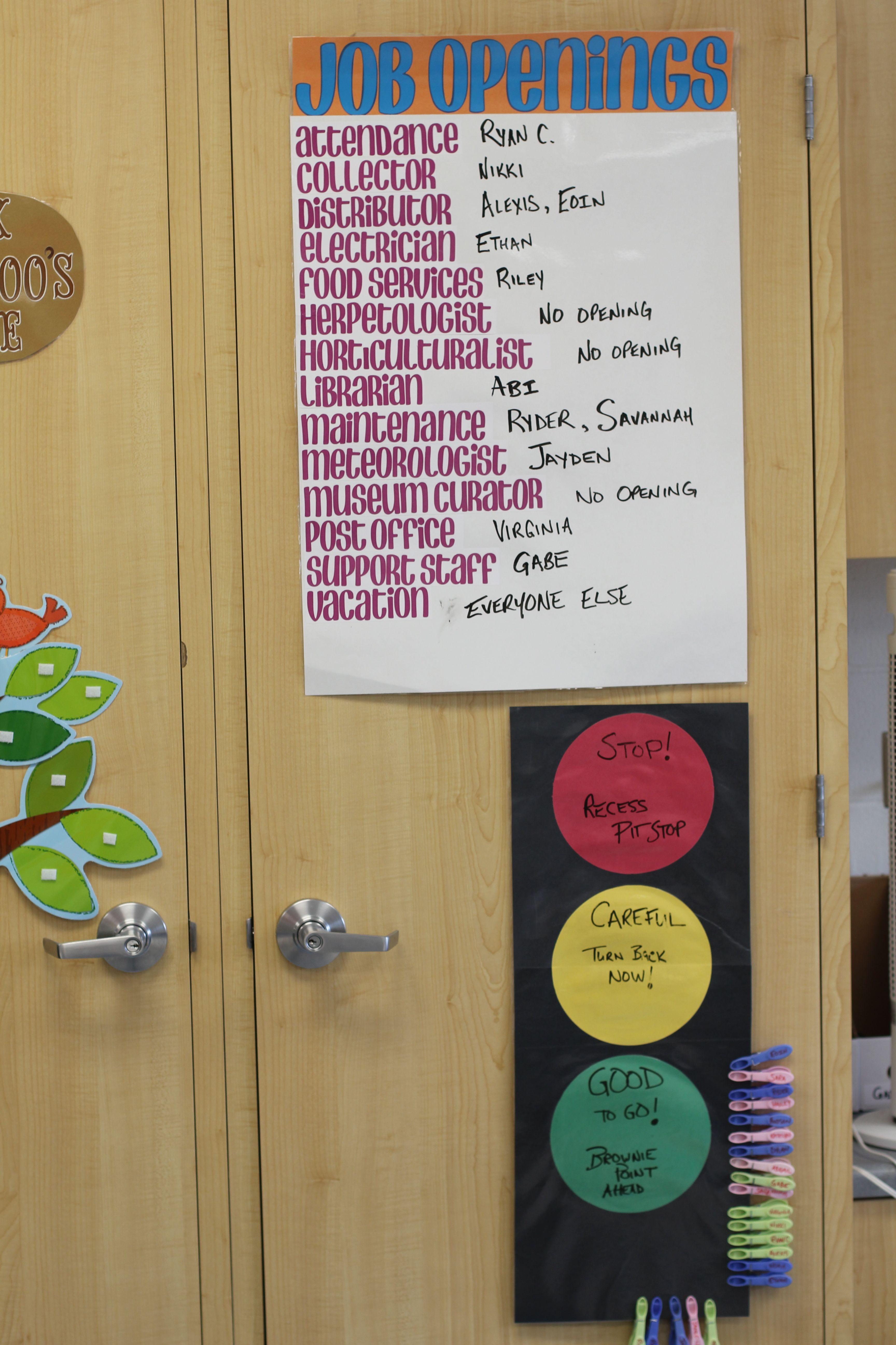 Real World Job Titles For Classroom Jobs Classroom Jobs Job Opening Classroom