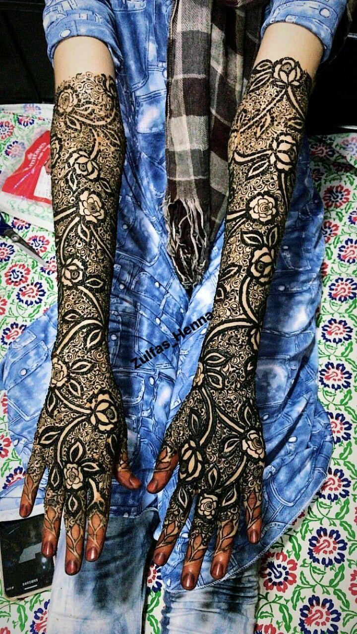 Beautiful bridal mehndi design by zulfas henna