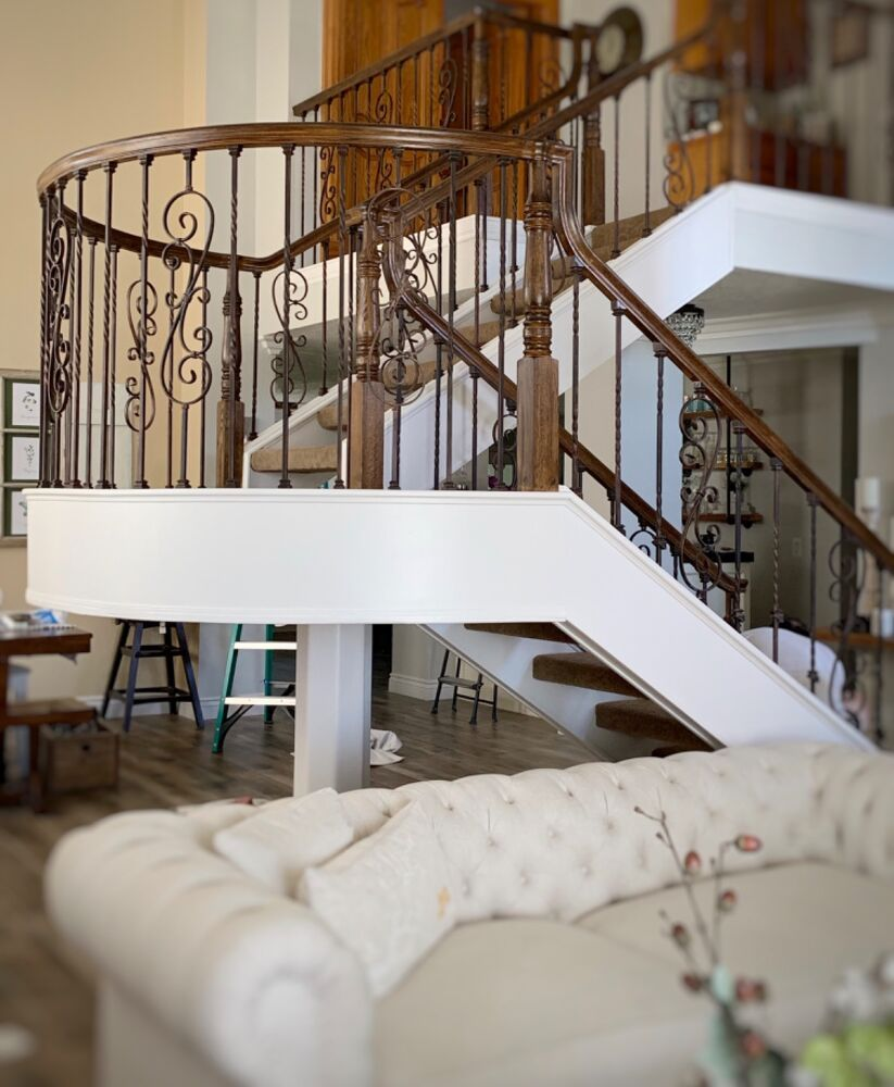 How To Paint A Before & After Staircase Transformation DIY