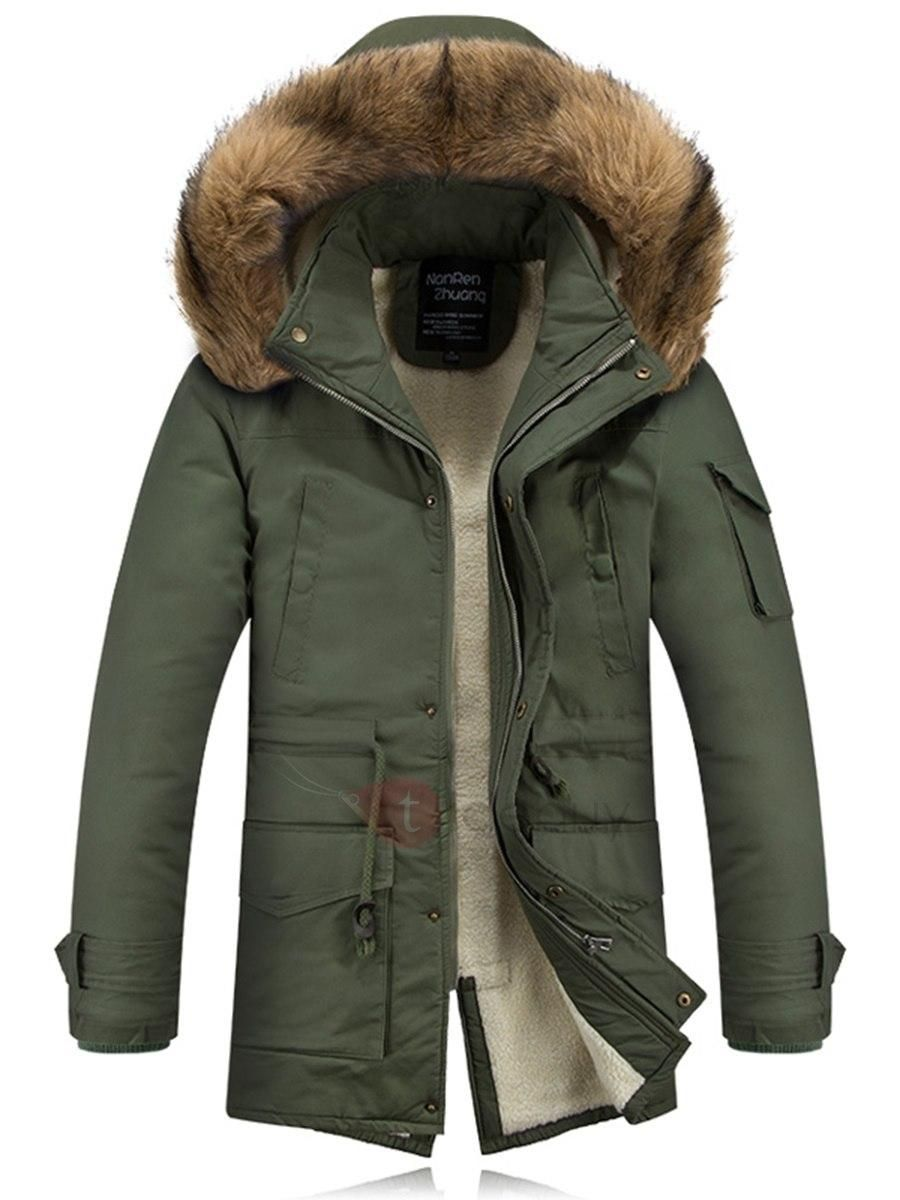 eb562a839a9  AdoreWe TideBuy Men s Coats   Jackets - TideBuy - Hooded Faux Fur Back  Split Mens Parka - AdoreWe.com