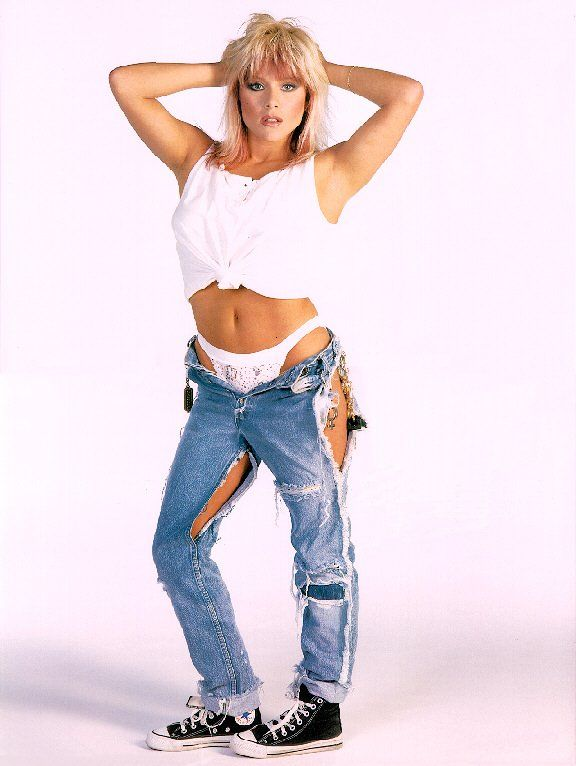 samantha fox ripped jeans