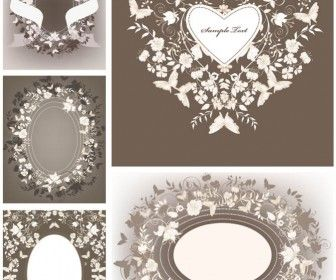 Decorative floral wedding frames vector resources vectors decorative floral wedding frames vector junglespirit Images