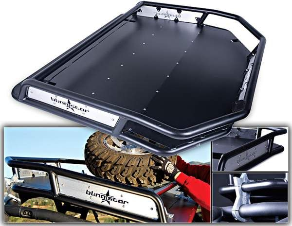 This New Roof Rack That Is Now Available From Blingstar For The Polaris Rzr Series It Fits On The Rzr S And Xp Features Custo Polaris Rzr Rzr Roof Rack