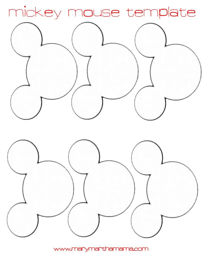 Mickey Mouse Head Template For Garland Larger Size Preschool
