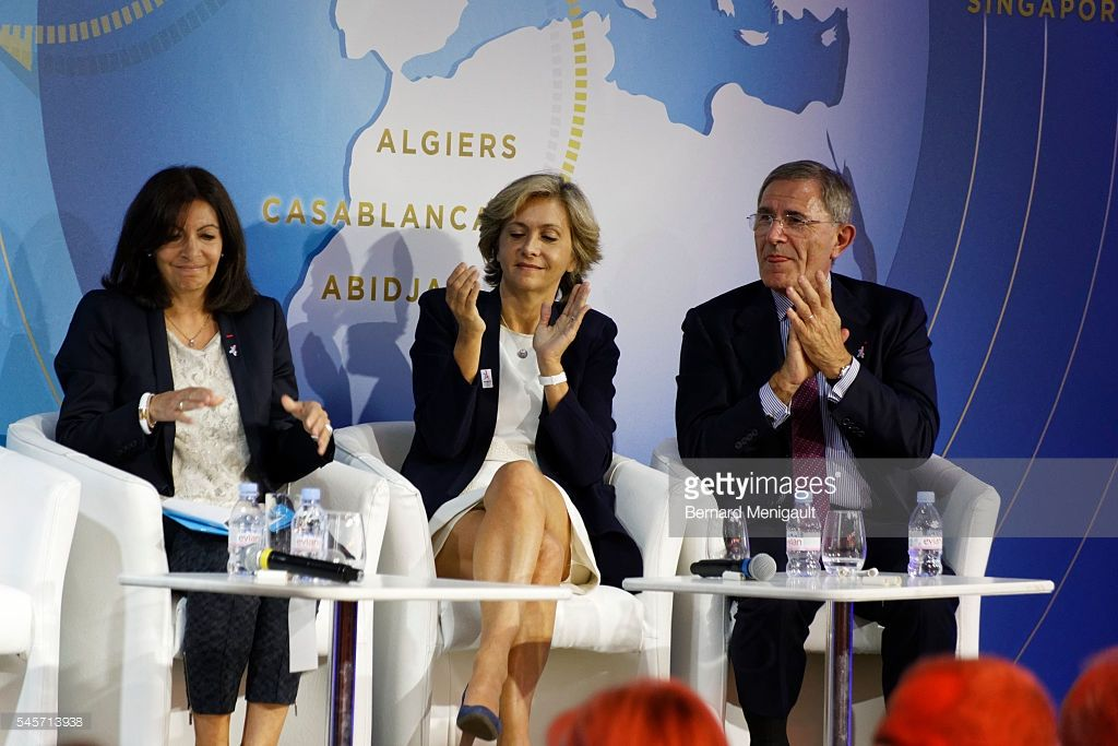 anne hidalgo val rie p cresse and g rard mestrallet attend the paris nikki haley. Black Bedroom Furniture Sets. Home Design Ideas