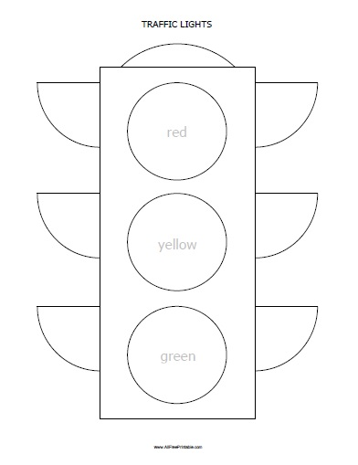 Free Printable Traffic Lights Coloring Page Quiet Book Templates Traffic Light Coloring Pages