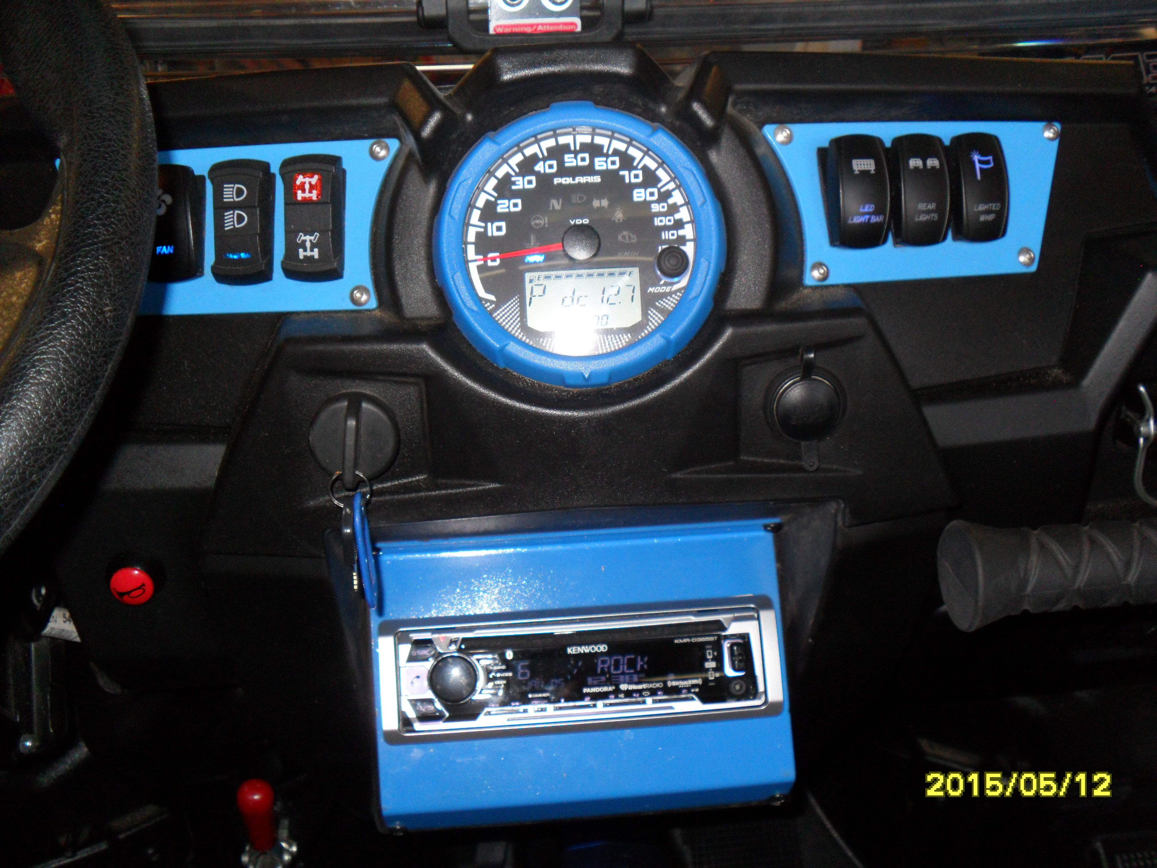RZR In Dash Stereo Plate. Made in USA | sXsInnovations ...