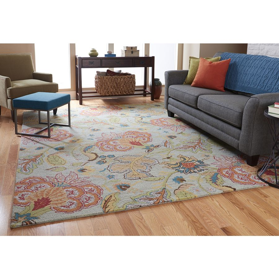 Allen + Roth Lendale Multicolor/Normal Rectangular Indoor Tufted Area Rug  (Common: 5 X 8; Actual: 60 In W X 96 In L) JJ RO 13 RA1876 C
