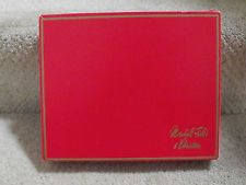 MARSHALL FIELD'S & CHRISTMAS RED / GOLD  PURCHASE BOX With Gold LOGO Script
