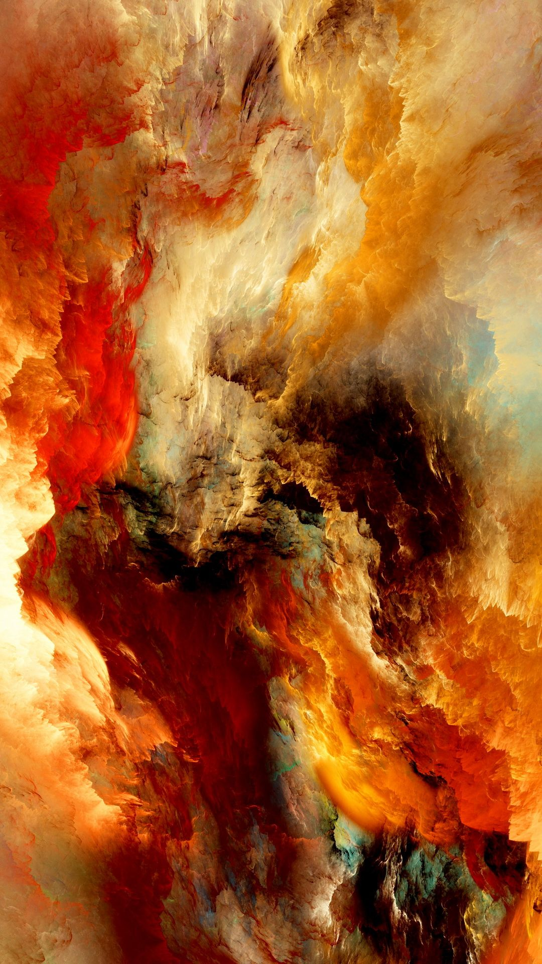 Tap image for more iPhone 6 abstract wallpapers! unreal clouds - @mobile9 | #colorful | iPhone 8 ...