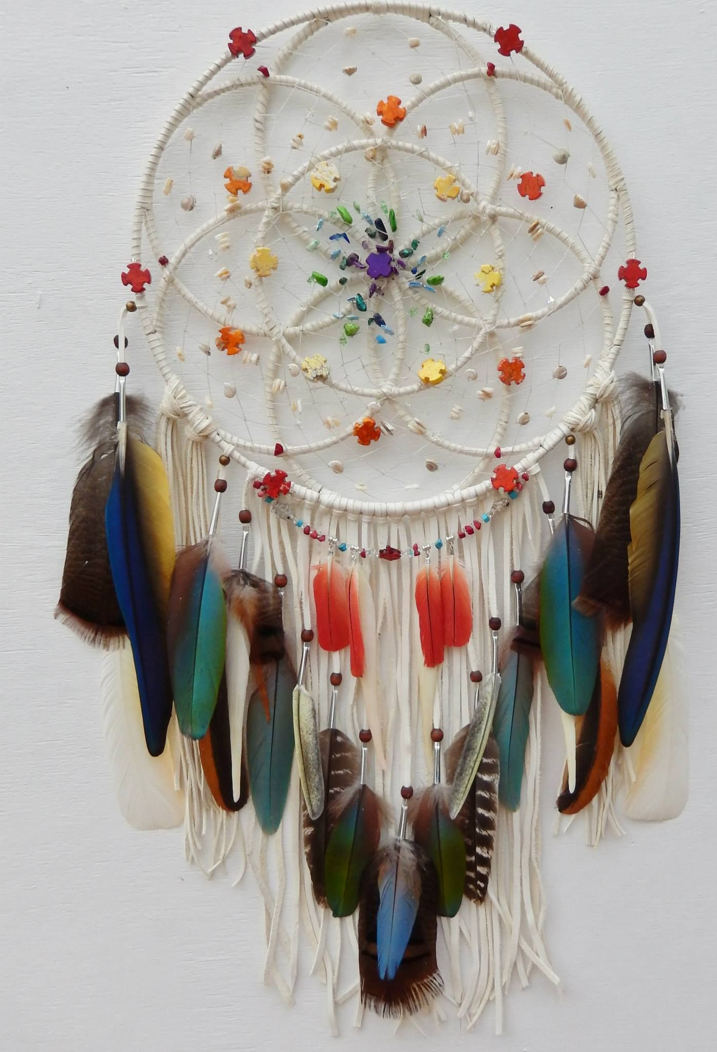 Sacred Geometry Dream Catcher Done By Authentic Native American Artist