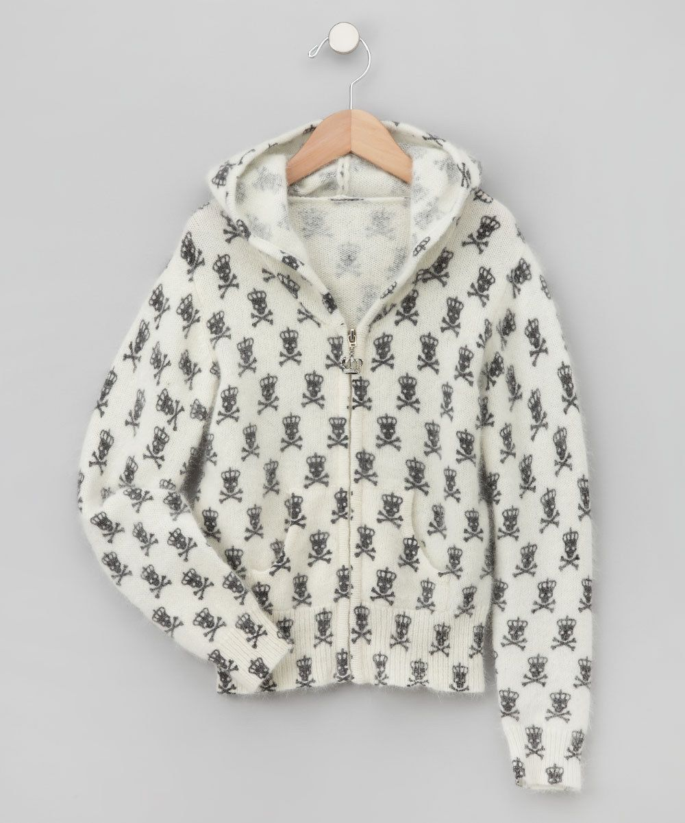 Take a look at this Ivory Punky Pirate Angora-Blend Zip-Up Hoodie - Toddler & Girls on zulily today!$21.99