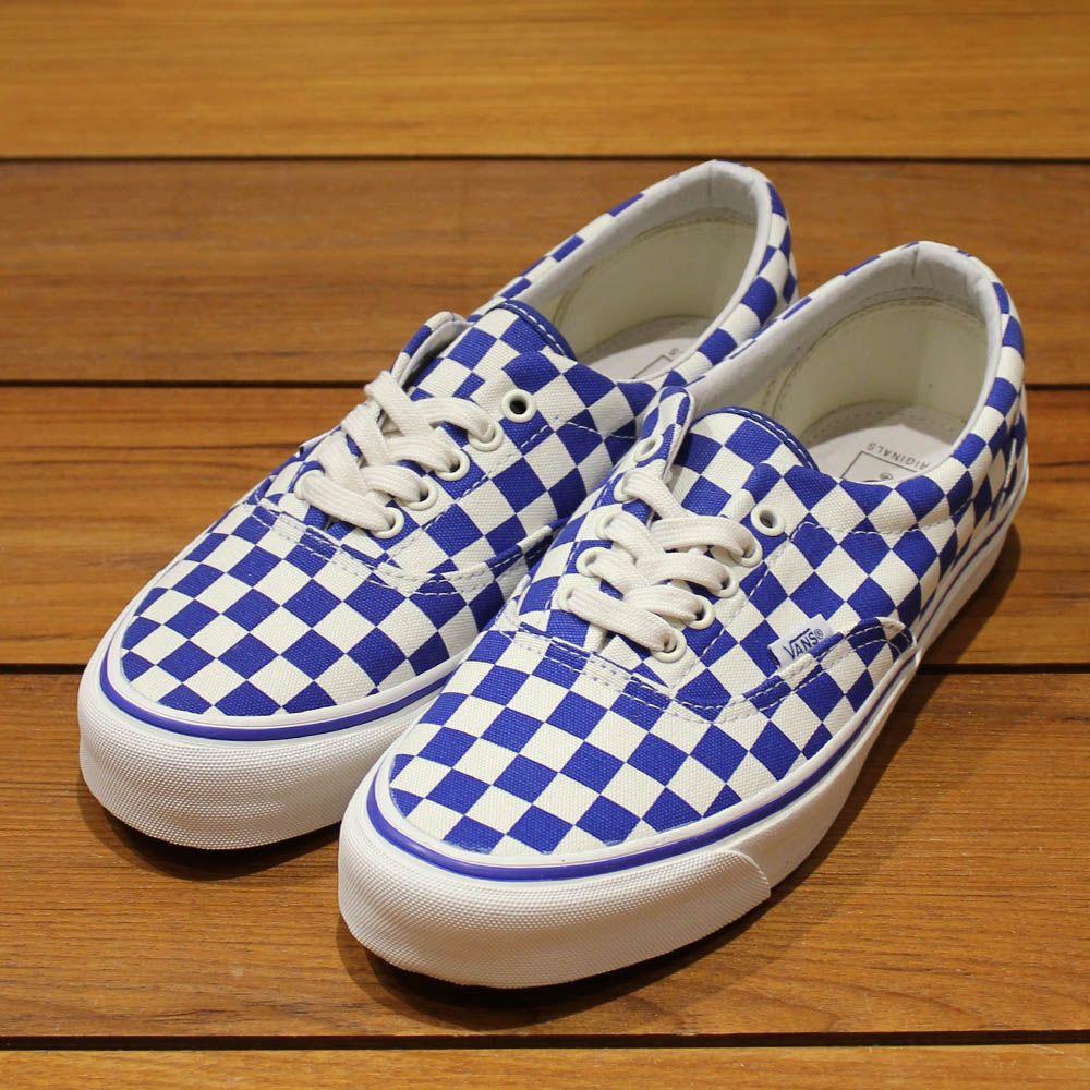 ec01017483 vans官網 vans vault og era lx 高端支線棋盤格子情侶懶人鞋 藍白