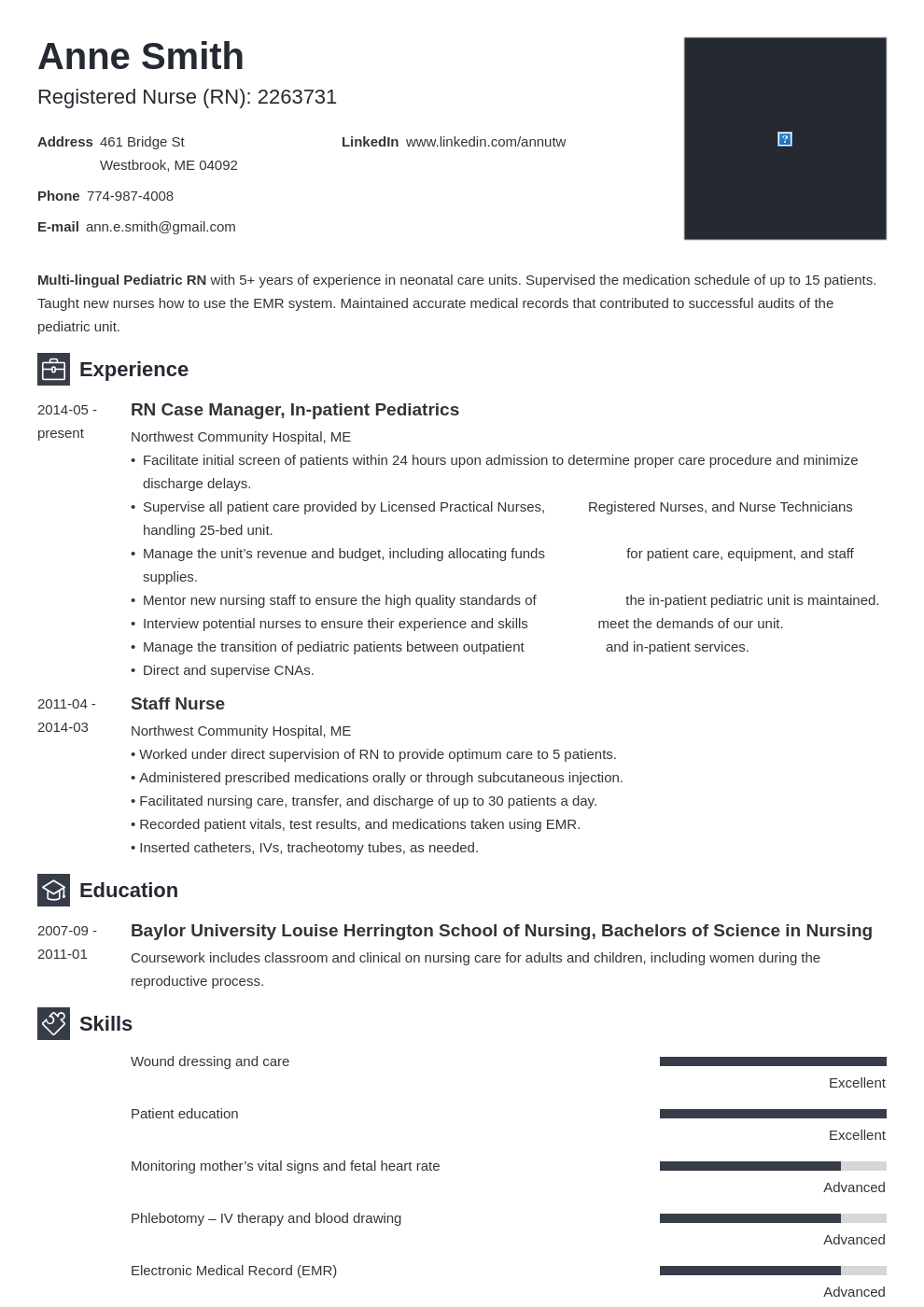 nursing resume examples template newcast in 2020 Nursing