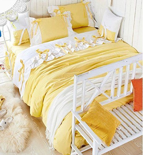 Pretty Yellow Comforter Yellow Bedding Sets Duvet Bedding Sets Princess Bedding Set