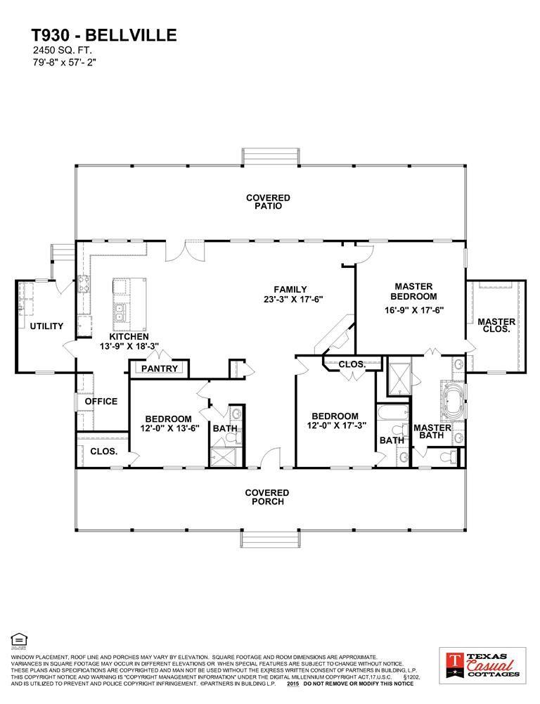 T930 W Bellville Cottage Floor Plans House Plans Floor Plans