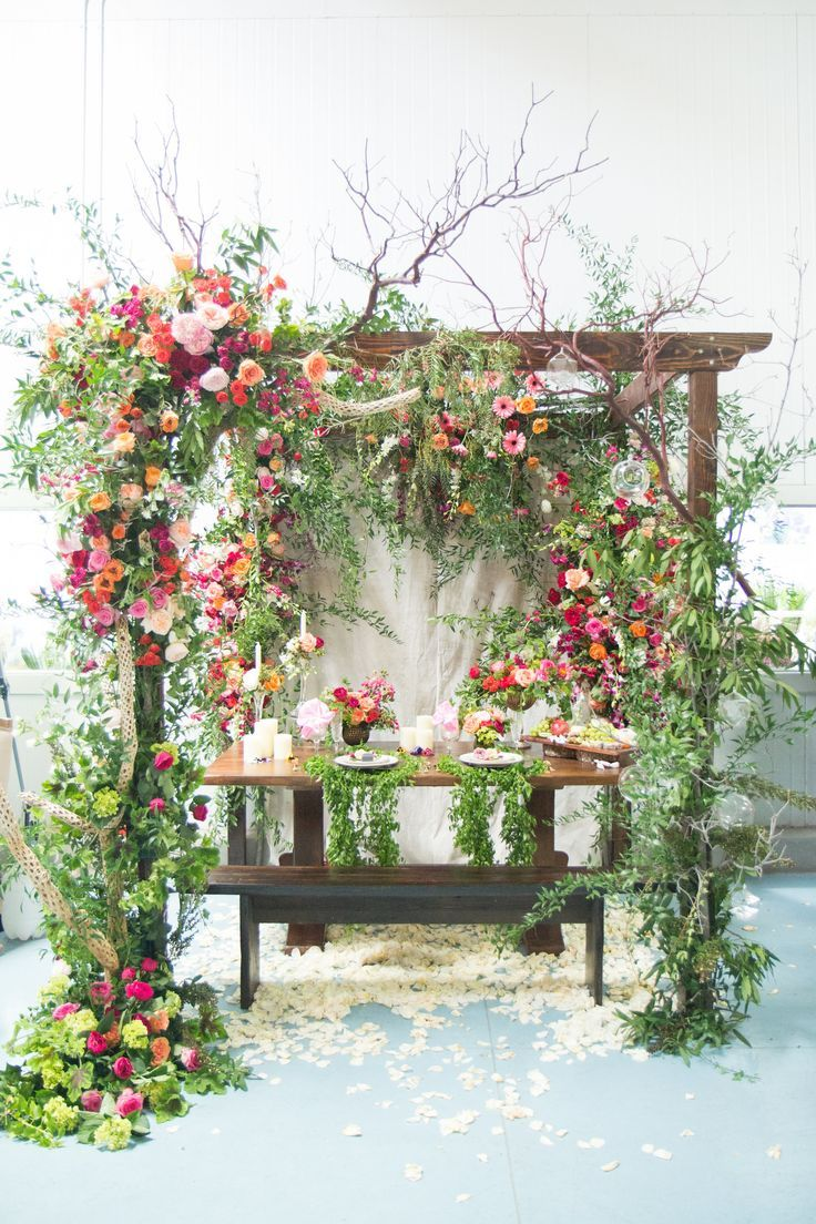 Our New Favorite Chuppah | Bright flowers, Chuppah and Bright